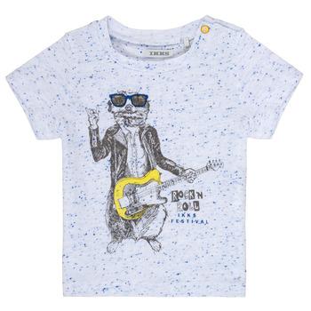 textil Niño camisetas manga corta Ikks MARIO Blanco