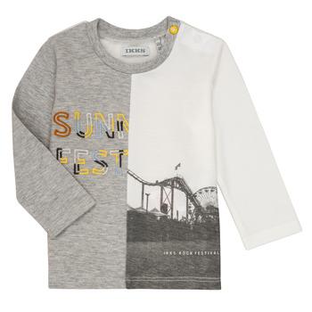 textil Niño Camisetas manga larga Ikks MAELINO Gris