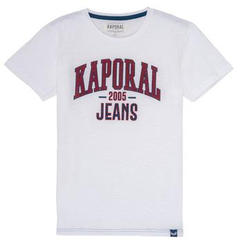 textil Niño Camisetas manga corta Kaporal ERNIE Blanco
