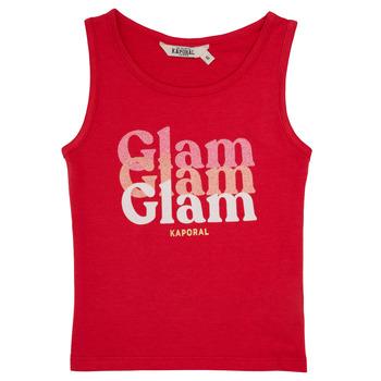 textil Niña camisetas sin mangas Kaporal JUIN Rojo