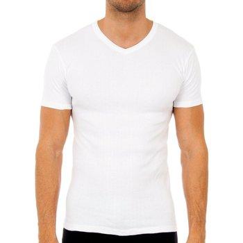 Ropa interior Hombre Camiseta interior Abanderado Pack-3 camisetas m/corta termica Blanco
