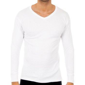 Ropa interior Hombre Camiseta interior Abanderado Pack-3 camisetas algo. cuello pico Blanco