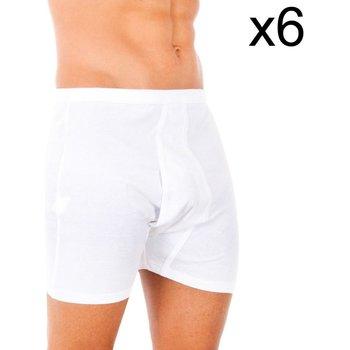 Ropa interior Hombre Boxer Abanderado Pack-6 boxer 100% algodón clasico Blanco