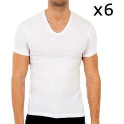 Ropa interior Hombre Camiseta interior Abanderado Pack-6 camisetas manga corta Blanco