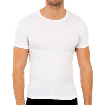 Ropa interior Hombre Camiseta interior Abanderado Pack-3 camisetas fibra m/c blanco Blanco