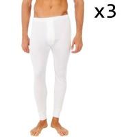 Ropa interior Hombre Calzoncillos Abanderado Pack-3 pantalon interior fibra largo Blanco