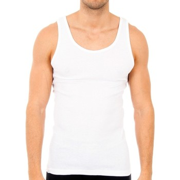 Ropa interior Hombre Camiseta interior Abanderado Pack-6 camisetas tirantes blanco Blanco