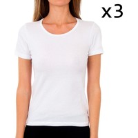Ropa interior Mujer Camiseta interior Abanderado Pack-3 camiseta sra m/c algodón Blanco