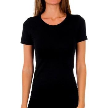 Ropa interior Mujer Camiseta interior Abanderado Pack-3 camiseta sra m/c algodón Negro