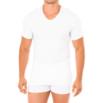 Ropa interior Hombre Camiseta interior Abanderado Camiseta Advanced manga corta Blanco