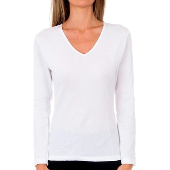 Ropa interior Mujer Camiseta interior Abanderado Pack-3 cam. sra m/l microthermal Blanco