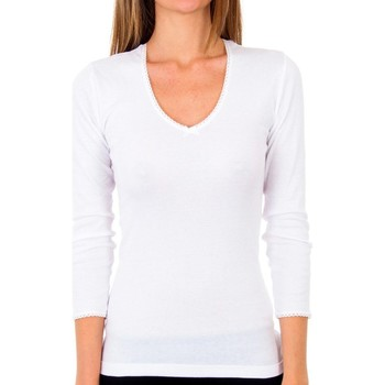 Ropa interior Mujer Camiseta interior Abanderado Pack 3 camiseta sra m/l thermal Blanco