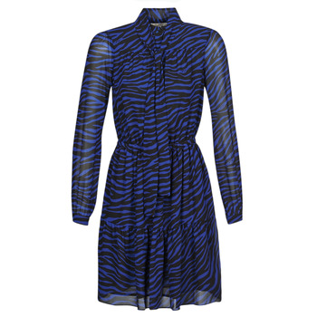 textil Mujer Vestidos cortos MICHAEL Michael Kors BOLD BENGAL TIER DRS Azul / Negro