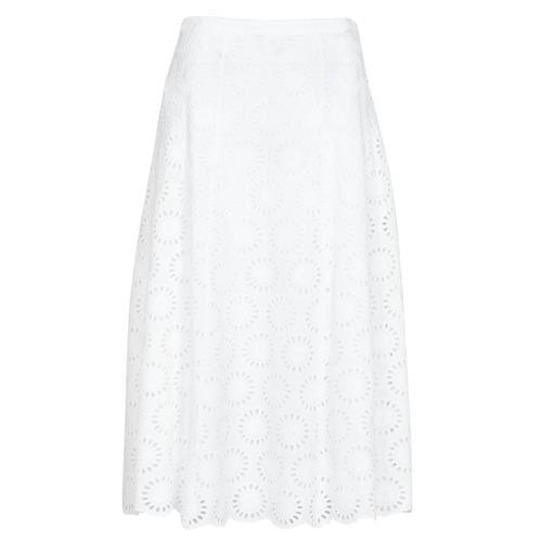 textil Mujer Faldas MICHAEL Michael Kors FLORAL EYLT LNG SKIRT Blanco
