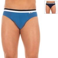 Ropa interior Hombre Calzoncillos DIM Pack-2 Slips Azul