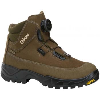 Zapatos Hombre Botas de caña baja Chiruca Botas  Cares Boa 11 Bandeleta Goretex Verde