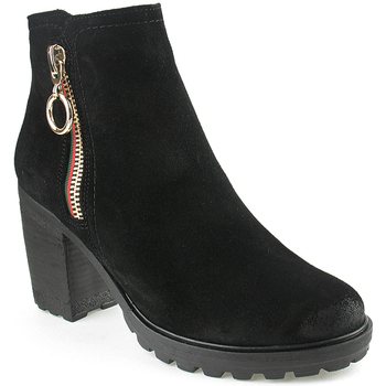 Zapatos Mujer Botines Oi L Ankle boots Lady Negro