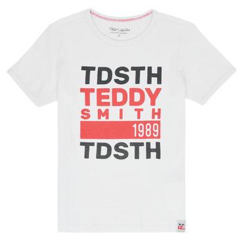 textil Niño Camisetas manga corta Teddy Smith DUSTIN Blanco