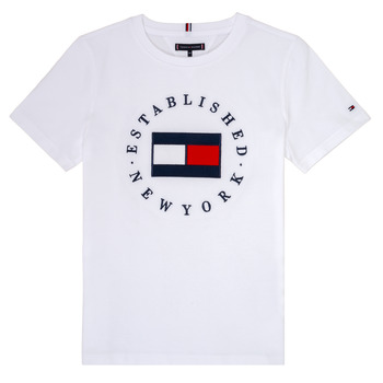 textil Niño camisetas manga corta Tommy Hilfiger KB0KB05718 Blanco