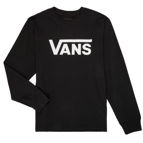textil Niños Camisetas manga larga Vans BY VANS CLASSIC LS Negro