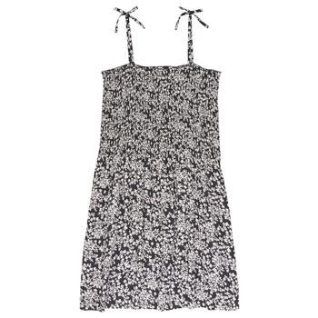 textil Niña vestidos cortos Le Temps des Cerises PUNTA Negro / Blanco