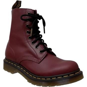 Zapatos Mujer Botas de caña baja Dr Martens 1460 pascal wanama Cuero burdeos
