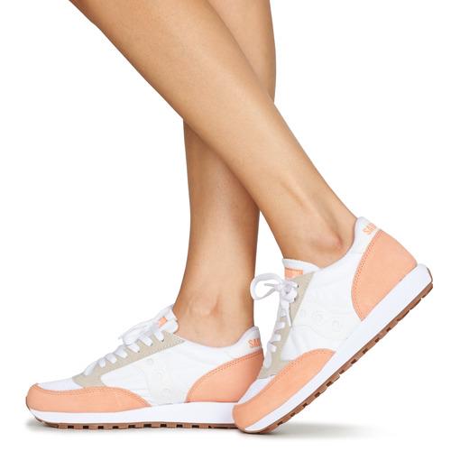 Saucony Jazz Vintage Blanco / Salmón - Envío Gratis Zapatos Deportivas Bajas Mujer 80
