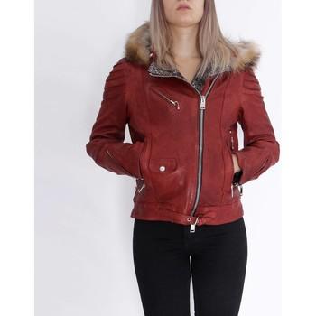 textil Mujer Chaquetas de cuero / Polipiel Delan V402 Rojo