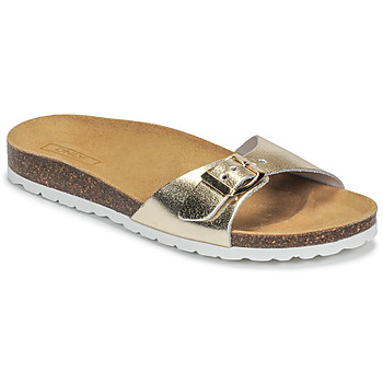 Zapatos Mujer Zuecos (Mules) Only MADISON METALLIC LEATHER Oro