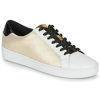 Zapatos Mujer Zapatillas bajas MICHAEL Michael Kors IRVING LACE UP Blanco / Negro / Oro