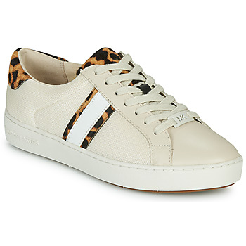 Zapatos Mujer Zapatillas bajas MICHAEL Michael Kors IRVING STRIPE LACE UP Crudo / Leopardo