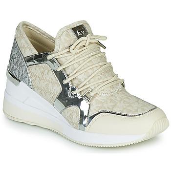 Zapatos Mujer Zapatillas bajas MICHAEL Michael Kors LIV TRAINER Beige / Plateado