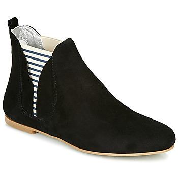 Zapatos Mujer Botas de caña baja Ippon Vintage PATCH FLYBOAT Negro