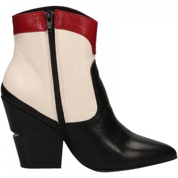 Zapatos Mujer Botines Oasi Private Collection STIVALETTI nero-bianco-rosso