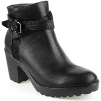 Zapatos Mujer Low boots Davinia L Ankle boots Lady Negro