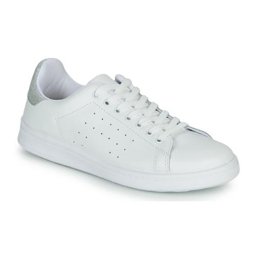 Zapatos Mujer Zapatillas bajas Yurban SATURNA Blanco / Plata