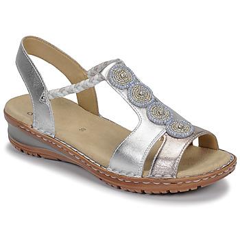 Zapatos Mujer Sandalias Ara HAWAII Blanco / Plata