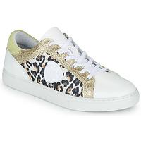 Zapatos Mujer Zapatillas bajas Philippe Morvan FURRY Blanco / Leopardo / Glitter