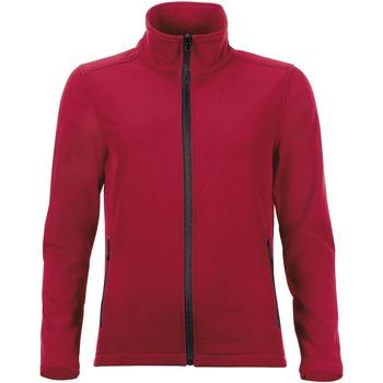 textil Mujer chaquetas de deporte Sols RACE WOMEN SOFTSHELL Rojo
