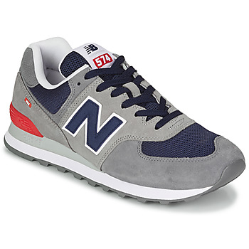 Zapatos Hombre Zapatillas bajas New Balance 574 Gris / Azul / Rojo