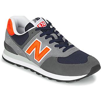 Zapatos Hombre Zapatillas bajas New Balance 574 Gris / Naranja