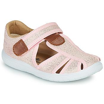 Zapatos Niña Sandalias Citrouille et Compagnie GUNCAL Rosa / Metalizado