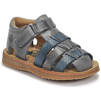 Zapatos Niño Sandalias Citrouille et Compagnie MISTIGRI Gris / Azul