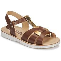 Zapatos Niña Sandalias Citrouille et Compagnie MINOTTE Marrón / Oro