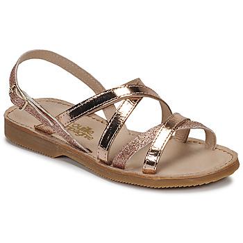 Zapatos Niña Sandalias Citrouille et Compagnie GENTOU Bronce / Glitter