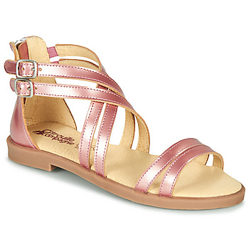 Zapatos Niña Sandalias Citrouille et Compagnie IMOURAT Rosa / Gold