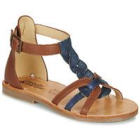 Zapatos Niña Sandalias Citrouille et Compagnie GITANOLO Marino / Camel