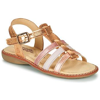Zapatos Niña Sandalias Citrouille et Compagnie GROUFLA Oro / Colores / Metalozados / Rosa