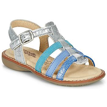 Zapatos Niña Sandalias Citrouille et Compagnie GROUFLA Plata / Azul / Verde agua