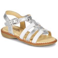 Zapatos Niña Sandalias Citrouille et Compagnie GROUFLA Plata / Blanco